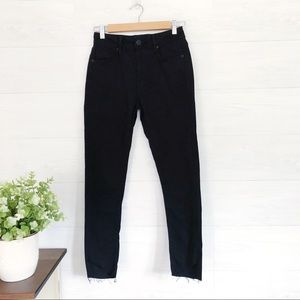 Urban Outfitters Pants - UO, Black Twig Skinny High Rise Raw Hem Jeans 385